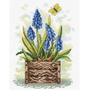 """Набор для вышивания """"Сапфировый цветок"""" М-206 23х18см"""