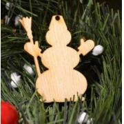 Новогоднее украшение Снеговик 10 см