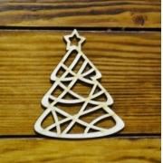 """Новогоднее украшение """"Резная елка"""" (5см) 2шт."""