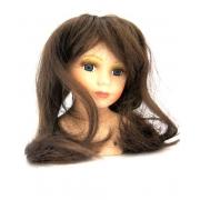 Волосы для кукол прямые d8-10см, П80, коричневые