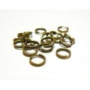 Колечки двойные под бронзу R-03 3.5 мм (50шт.)