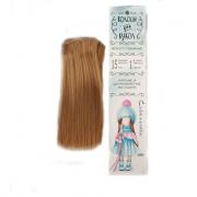Волосы - тресс для кукол «Прямые» длина волос: 15 см, ширина: 100 см, цвет № 26