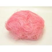 Сизалевое волокно (100гр), нежно-розовое