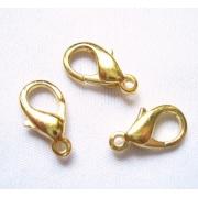 Карабин малый 10 мм (10шт.) под золото