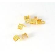 Зажим для узла с петлей DC-091 4х4х4мм (50 шт) золото