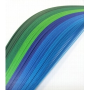 """Полоски для квиллинга """"Сине-зеленый микс"""" 06-03-150 (3 мм 150 шт.)"""
