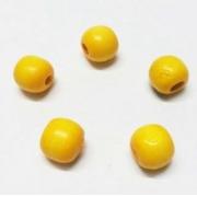 Бусины дерево HBO-04 15 мм (10 шт.) желтые