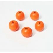 Бусины дерево HBO 10 мм (25 шт.) оранжевые