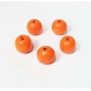 Бусины дерево HBO-04 15 мм (10 шт.) оранжевые