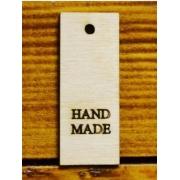 """Бирка из фанеры """"Hand made"""" 5х2 см"""