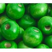 Бусины дерево HBO 10 мм (25 шт.) зеленые