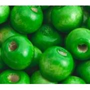 Бусины дерево HBO 15 мм (10 шт.) зеленые