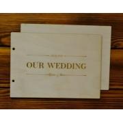"""Обложка для книги пожеланий """"Our wedding"""" 21.5х15.5см"""
