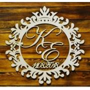Монограмма (герб)  №43 40х38,8 см (фанера 3 мм без покраски)