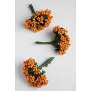 Декоративный букетик, темно-оранжевый 12 шт