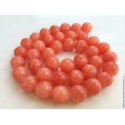 Бусины агат без огранки 10мм (4шт.) оранжевый