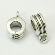 Бейл трубка сплав 12.5x8x5мм цв.античное серебро (3шт.)