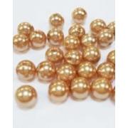 Бусины пластик PB-1 6мм (50шт.) Золотистые