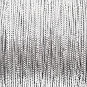 Шнур металлизированный серебряный GC-001M (1 мм) 4 метра