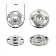 Кнопки пришивные 14мм (12шт.) никель