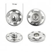 Кнопки пришивные 16мм (12шт.) никель