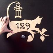"""Номер квартиры """"Кошка"""" 40х38 см"""