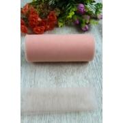 Фатин ширина 15см (2метра) нежно-розовый