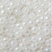 Бисер TOHO 10/0 круглый 5 граммов 0141 белый/перламутровый