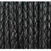 Шнур плетеный 3 мм черный (1метр)