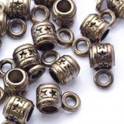 Бейл трубка  9х5х7 мм,  цв.античное золото (3шт.)