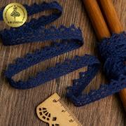 Кружево 10мм темно-синий (1метр)