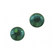 Термоклеевые  стразы IDEAL 4,6-4,8 мм. цв. BLUE ZIRCON (зеленый), 144 шт.