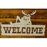"Табличка ""Welcome"" 29х50см"