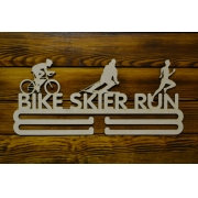 "Медальница ""bike skier run"" 50см"
