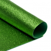 Фоамиран глиттерный 2мм 20х30см зеленое яблоко