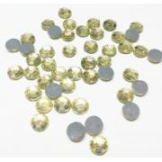 Термоклеевые стразы Zlatka RS SS30 Crystal 6.5 мм желтый (144 шт.)