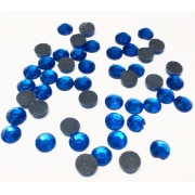 Термоклеевые стразы Zlatka 4.7 мм темно-голубой (144 шт.)