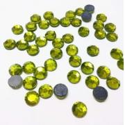 Термоклеевые стразы Zlatka RS SS30 Crystal 6.5 мм оливковый (144 шт.)