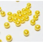 Бусины пластик PB-1 6мм (50шт.) лимонные 04