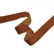 Лента бархатная  25 мм коричневый №104 (1 м)