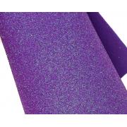 Фоамиран глиттерный 2мм 20х30см фиолетовый