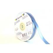 Лента атласная с металлизированной нитью AL-12M 12мм голубой/серебро (5метров)