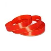 Лента атласная с металлизированной нитью AL-12M 12мм красный/золото (5метров)
