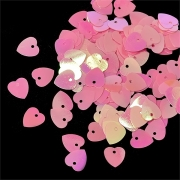 Пайетки TBY-FLK297 10мм розовые 10 гр
