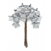 Декоративный букетик звезды серебряные 175b