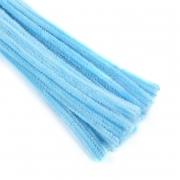 Проволока  синельная 30 см голубой, 50 шт