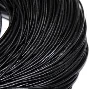 Шнур кожаный 2 мм (1метр) черный