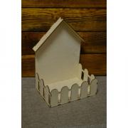 Подарочная упаковка с забором, 30х21х15 см