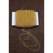 Цепь декоративная нержавеющая,  4 мм  (1 метр) под золото