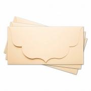 Заготовка для конверта №3 кремовый матовый